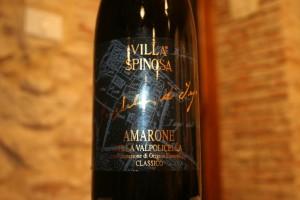 Villa Spinosa´s top Amarone  lagret i 10 år