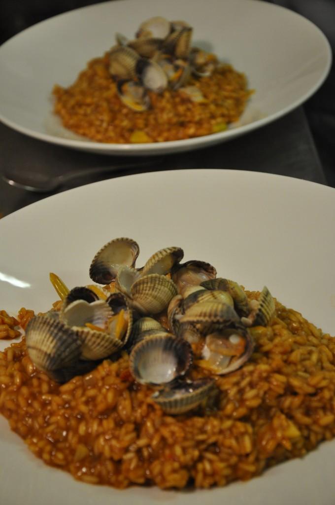Risotto køkkenskole - Safran Risotto med vongole