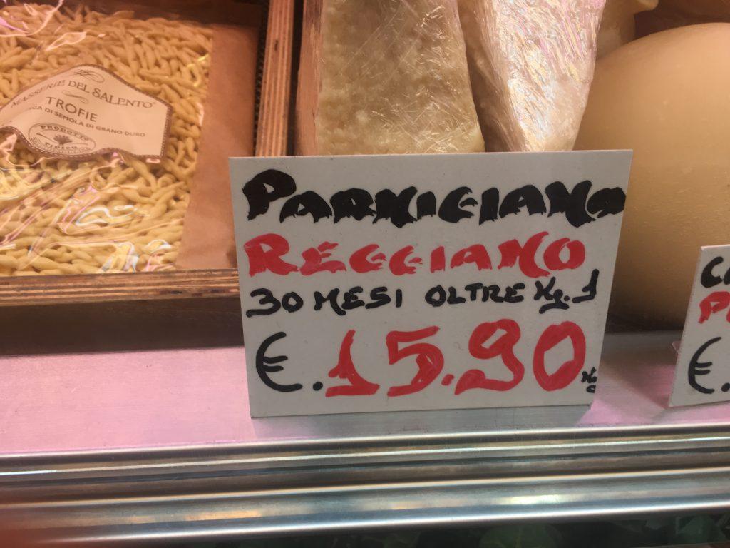 Parmesan i mange årgange