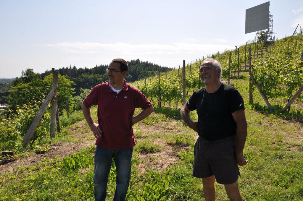 Fabrizio og far Mario der går under navnet Giorgio (Armani) grundet det tilbagestrøget grå hår